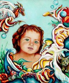 Poster Reproduction tableau imaginaire enfant