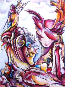 Poster symbolisme ailes puissance spiritualisation