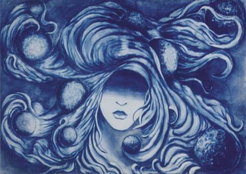 Poster Univers reproduction  tableau acrylique